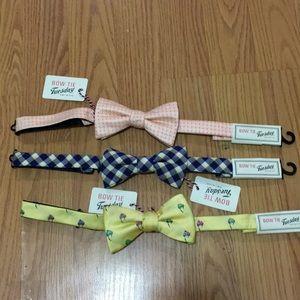 3 piece bow ties